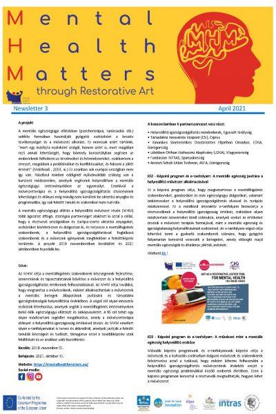 Mental Health Matters (MHM) hírlevél 1. oldal