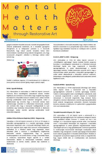 Mental Health Matters (MHM) hírlevél 2. oldal